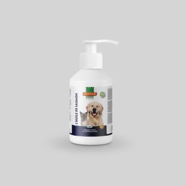 Huile de Saumon Pelage et Articulations pour chien et chat mini format BIOFOOD by CROQ&CO